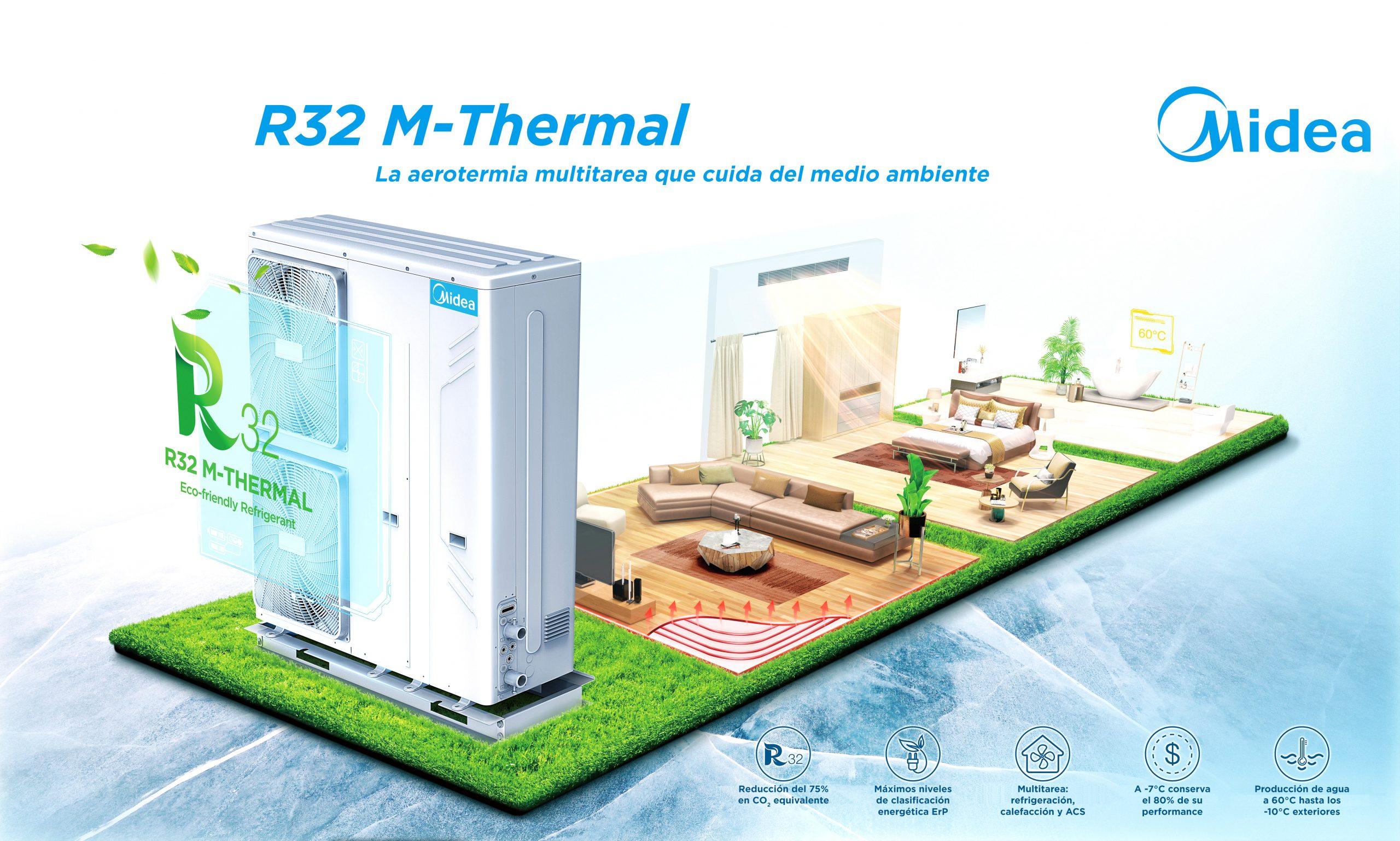 Midea presenta su nueva gama de aerotermia M-Thermal R-32