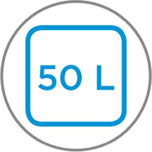 Capacidad interior 50 L