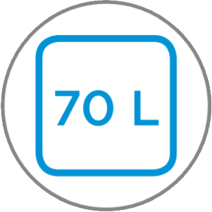 Capacidad interior 70 L
