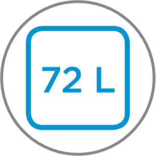 Capacidad interior 72 L