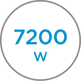 Potencia 7200 W