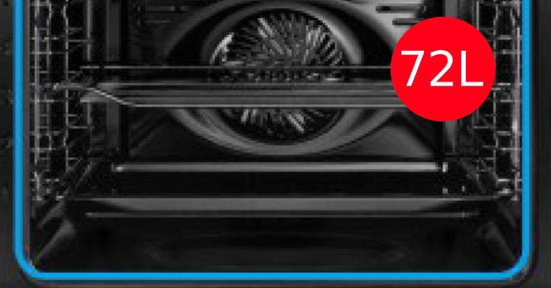 72 Litros de capacidad